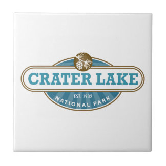 Crater Lake National Park Small Square Tile