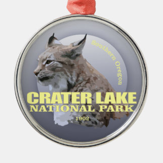 Crater Lake NP (Lynx) WT Silver-Colored Round Decoration