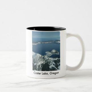 Crater Lake, Oregon Two-Tone Coffee Mug