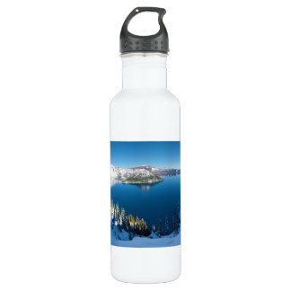 Crater Lake South Central Oregon in Winter 710 Ml Water Bottle