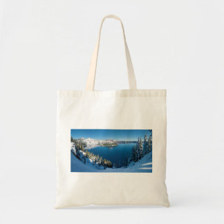 Crater Lake South Central Oregon in Winter Budget Tote Bag