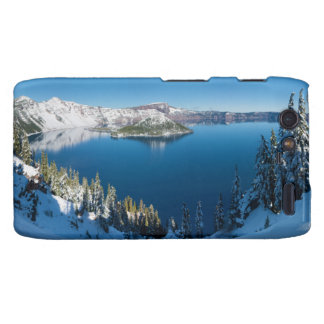 Crater Lake South Central Oregon in Winter Droid RAZR Cases