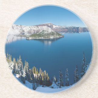 Crater Lake South Central Oregon in Winter Coasters