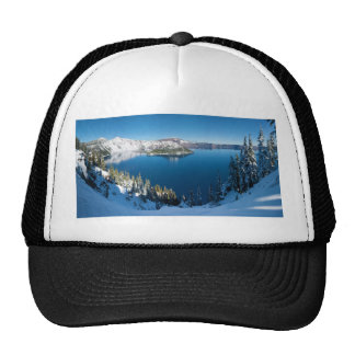 Crater Lake South Central Oregon in Winter Mesh Hat