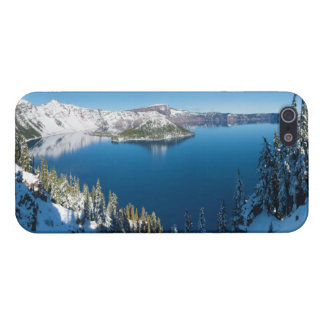 Crater Lake South Central Oregon in Winter iPhone 5 Covers