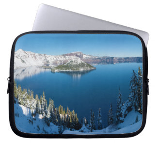 Crater Lake South Central Oregon in Winter Computer Sleeve