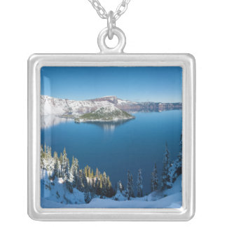 Crater Lake South Central Oregon in Winter Personalized Necklace