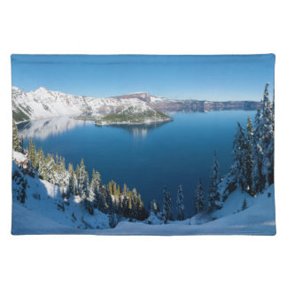 Crater Lake South Central Oregon in Winter Placemats