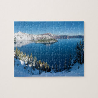 Crater Lake South Central Oregon in Winter Puzzle