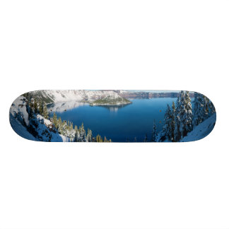 Crater Lake South Central Oregon in Winter Skateboard Deck