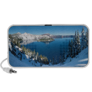 Crater Lake South Central Oregon in Winter iPod Speakers
