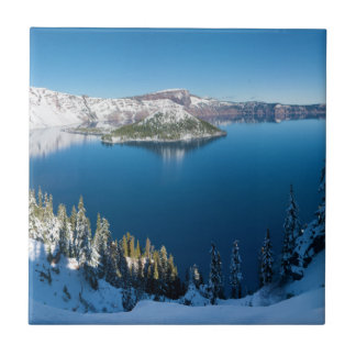 Crater Lake South Central Oregon in Winter Tiles