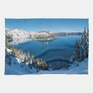 Crater Lake South Central Oregon in Winter Towel
