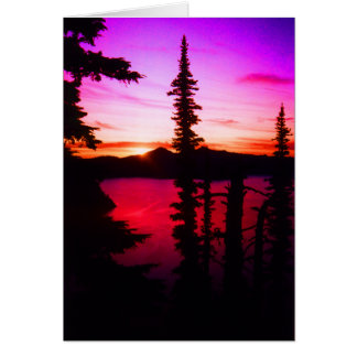 Crater Lake Sunset Cards
