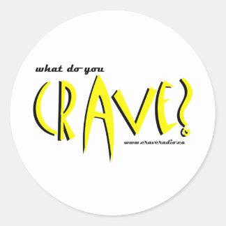 cravedesign1 yellow classic round sticker
