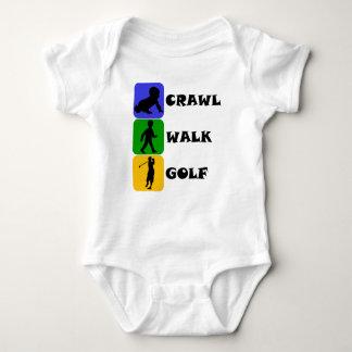 Crawl Walk Golf Baby Bodysuit