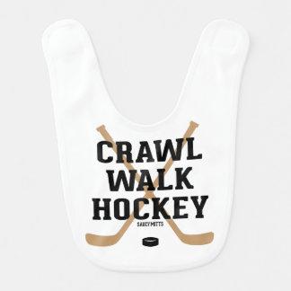 Crawl Walk Hockey Funny Infant Bibs
