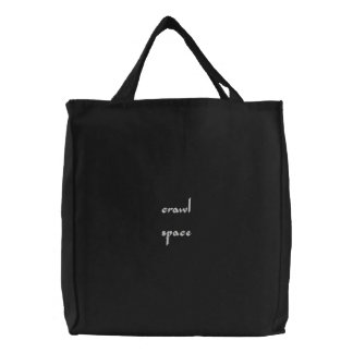 crawlspace embroidered tote bag