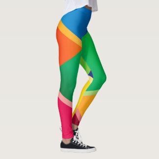 Crayon Colored Diagonal Weaves 2 Leggings