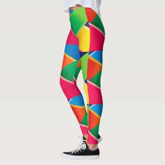 Crayon Colored Diagonal Weaves Leggings