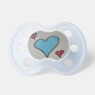 Crayon Hearts Baby Pacifier