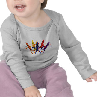 Crayon Party Long Sleeve Infant T-Shirt