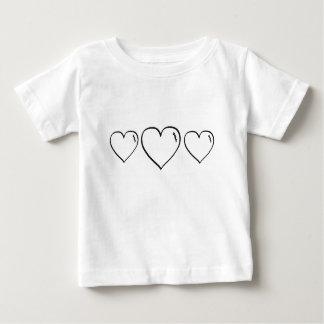 Crayon Scribble Heart Baby T-Shirt