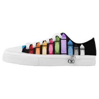 Crayon Shoes. Printed Shoes