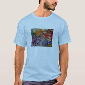 crayon skies abstract t-shirt