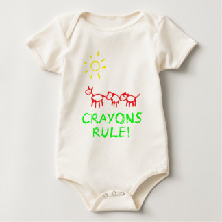 Crayons Rule Bodysuits