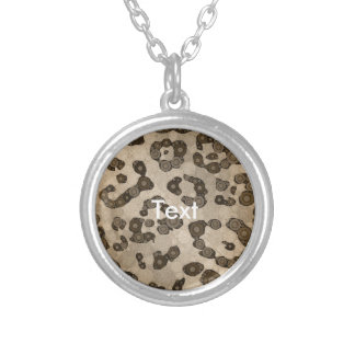 Crazy Animal Print Abstract Round Pendant Necklace