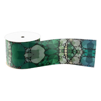 Crazy Beautiful Abstract Pattern Grosgrain Ribbon