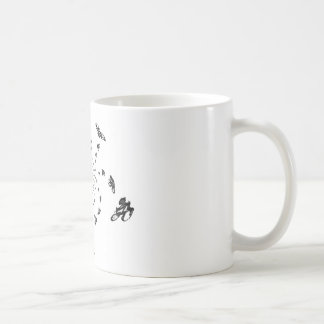 Crazy Bikes in a cycling whirl Coffee Mug