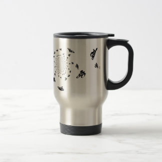 Crazy Bikes in a cycling whirl Stainless Steel Travel Mug