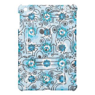 Crazy blue creatures ipad case