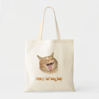 Crazy cat bag lady