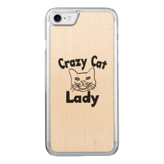 Crazy Cat Lady Carved iPhone 7 Case
