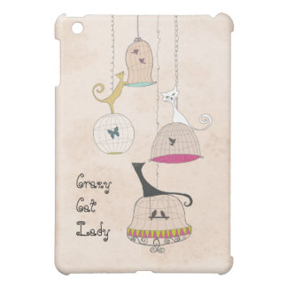 Crazy Cat Lady Cats n Birdcages ipad cases Cover For The iPad Mini