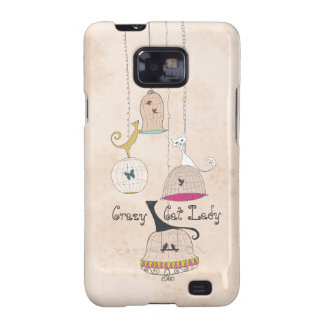 Crazy Cat Lady Cats n Birdcages Samsung Galaxy S2 Galaxy SII Covers