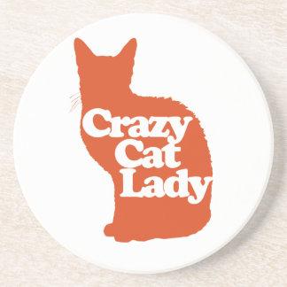 Crazy cat lady beverage coasters