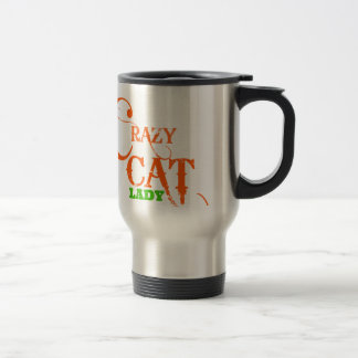 Crazy Cat Lady Collection Stainless Steel Travel Mug