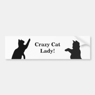 CRAZY CAT LADY Fun Quote for Cat Lovers Car Bumper Sticker
