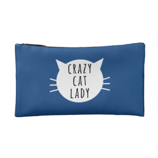 Crazy Cat Lady Funny Bag Cosmetic Bag