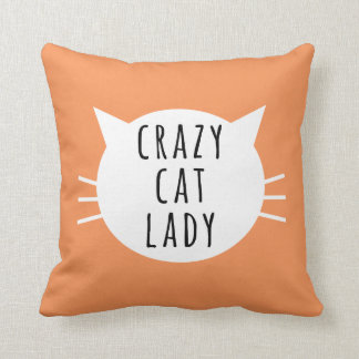 Crazy Cat Lady Funny Pillow Throw Cushions