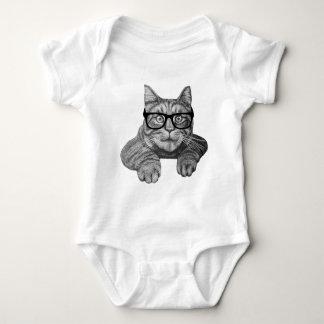 crazy cat lady geek cat baby bodysuit