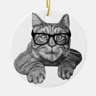 crazy cat lady geek cat christmas ornaments