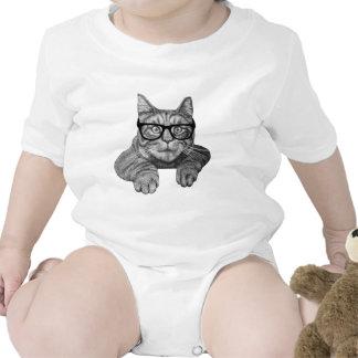 crazy cat lady geek cat baby bodysuits