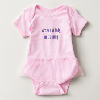 Crazy Cat Lady in Training- Baby Tutu Bodyuit Bold Baby Bodysuit