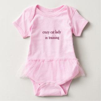 Crazy Cat Lady in Training- Baby Tutu Bodyuit Tshirt