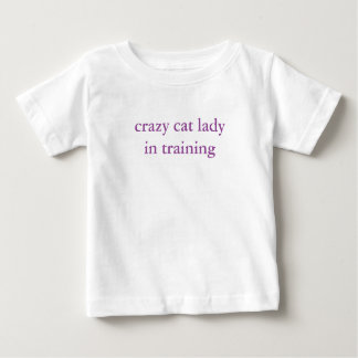 crazy cat lady in training kids tshirt cute!